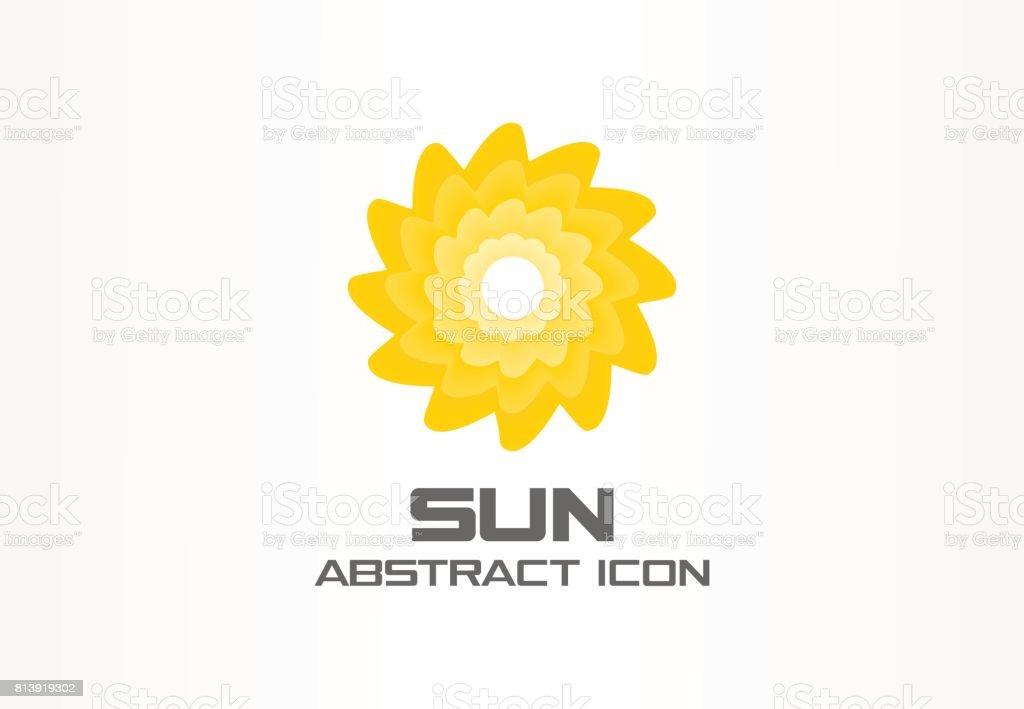93788aa566abb Ideia abstrata para empresa de negócios. Eco, energia do sol em espiral,  símbolo