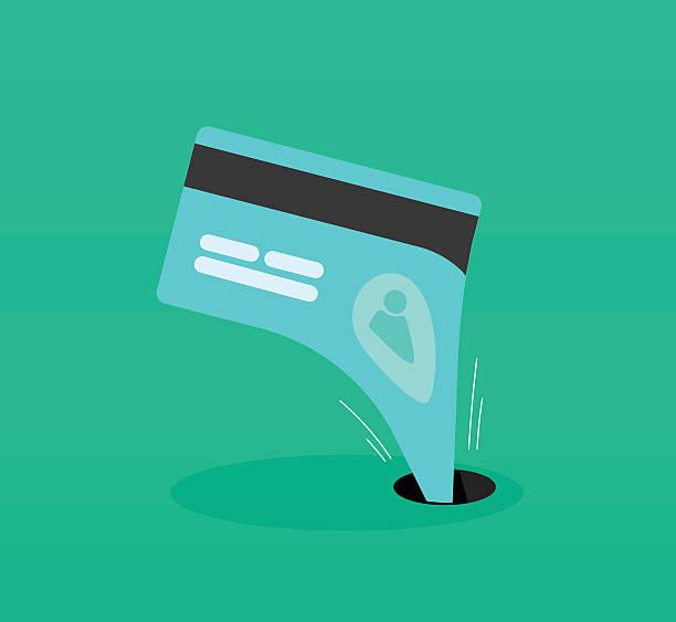 ilustrações, clipart, desenhos animados e ícones de abstrato roubo de identidade, dinheiro escoamento negócios fraude, proteção financeira - roubo de identidade