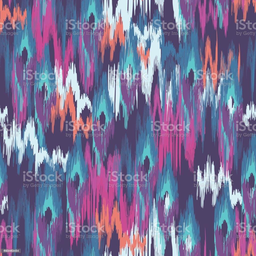 abstract ikat smudges - seamless print vector art illustration