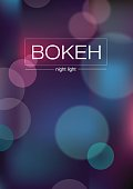 Abstract colorful background with de-focused lights - eps10 vector. Blurred Lights on blue background with bokeh effect.