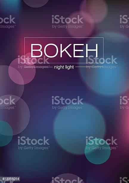 Abstract Illustration Blurred Lights With Bokeh Effect - Stockowe grafiki wektorowe i więcej obrazów Abstrakcja