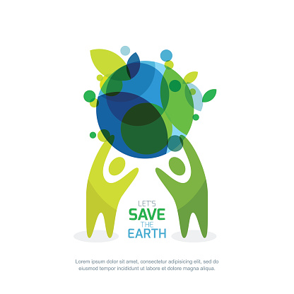 Abstract illustration for save earth day.