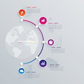 Abstract illustration Infographic. web design.