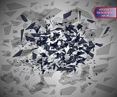 Abstract illustration of crushed particles. Vector illustration of a fantastic background. Eps 10.