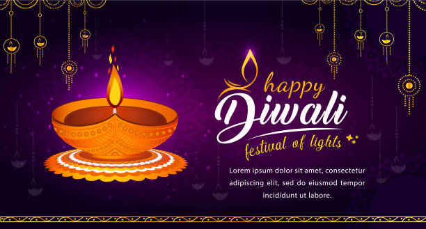 Abstract Illustration of Diwali festival. Creative Indian festival Diwali special offer discount banner, Flat 50% off sale sticker. with Illustrations  traditional mandalas. diwali stock illustrations