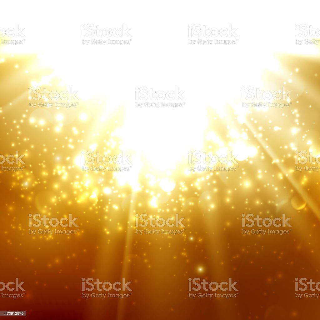 abstract illustration of light rays on the deep amber background vector art illustration