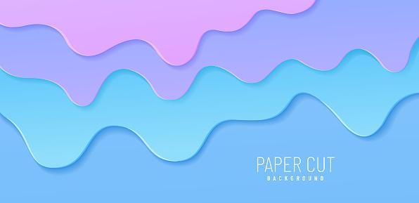 Abstract illustration of splash. Burst off bubblegum. Vector background with pink blue bubble gum or melting ice cream. Flow of sweet sticky liquid. Cartoon design.