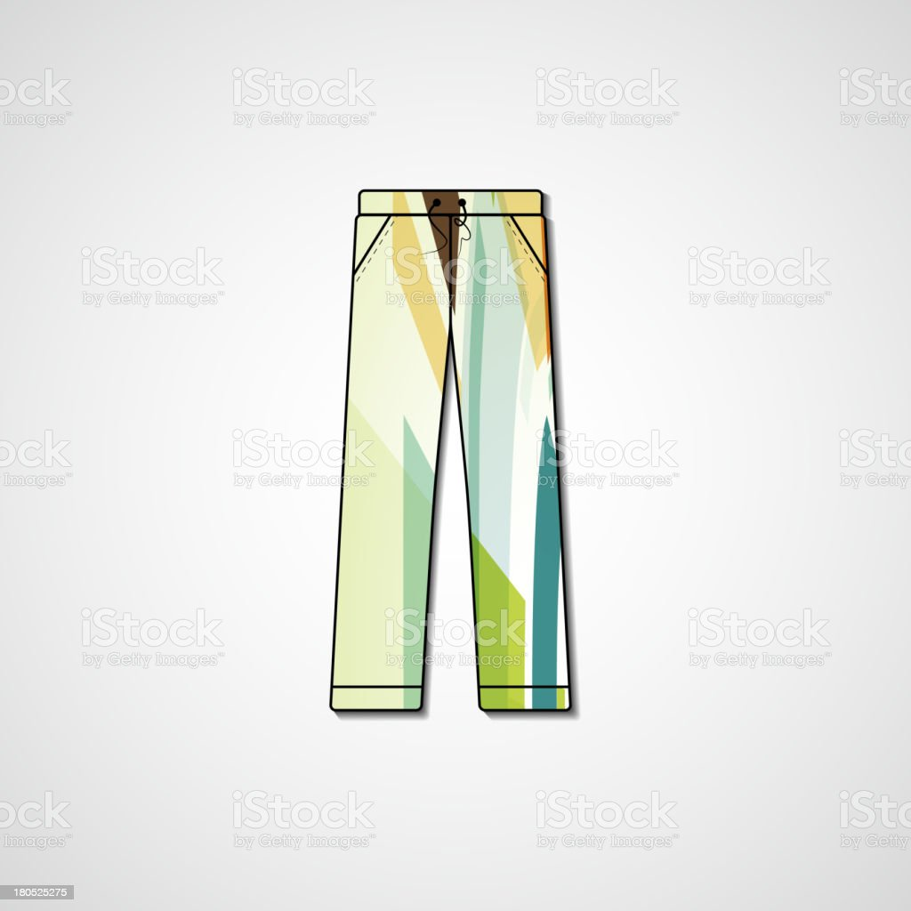 Abstract illustration on pants royalty-free stock vector art