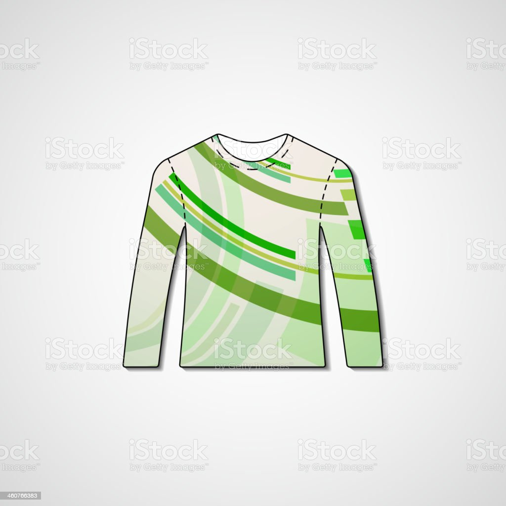 016e6ed0a Abstract Illustration On Sweater Stock Vector Art   More Images of ...