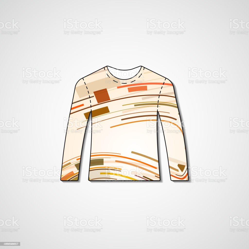 Abstract illustration on sweater royalty-free abstract illustration on sweater stock vector art & more images of abstract