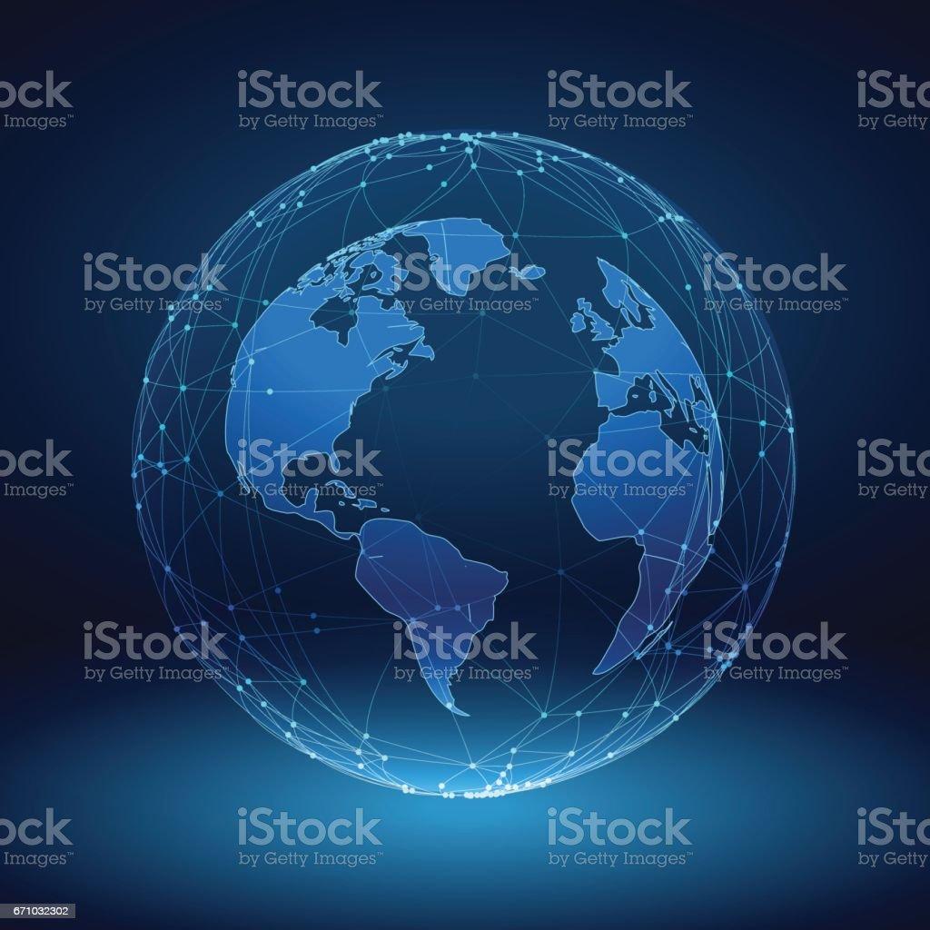 Ilustración De Imagen Abstracta De Un Planeta Tierra En