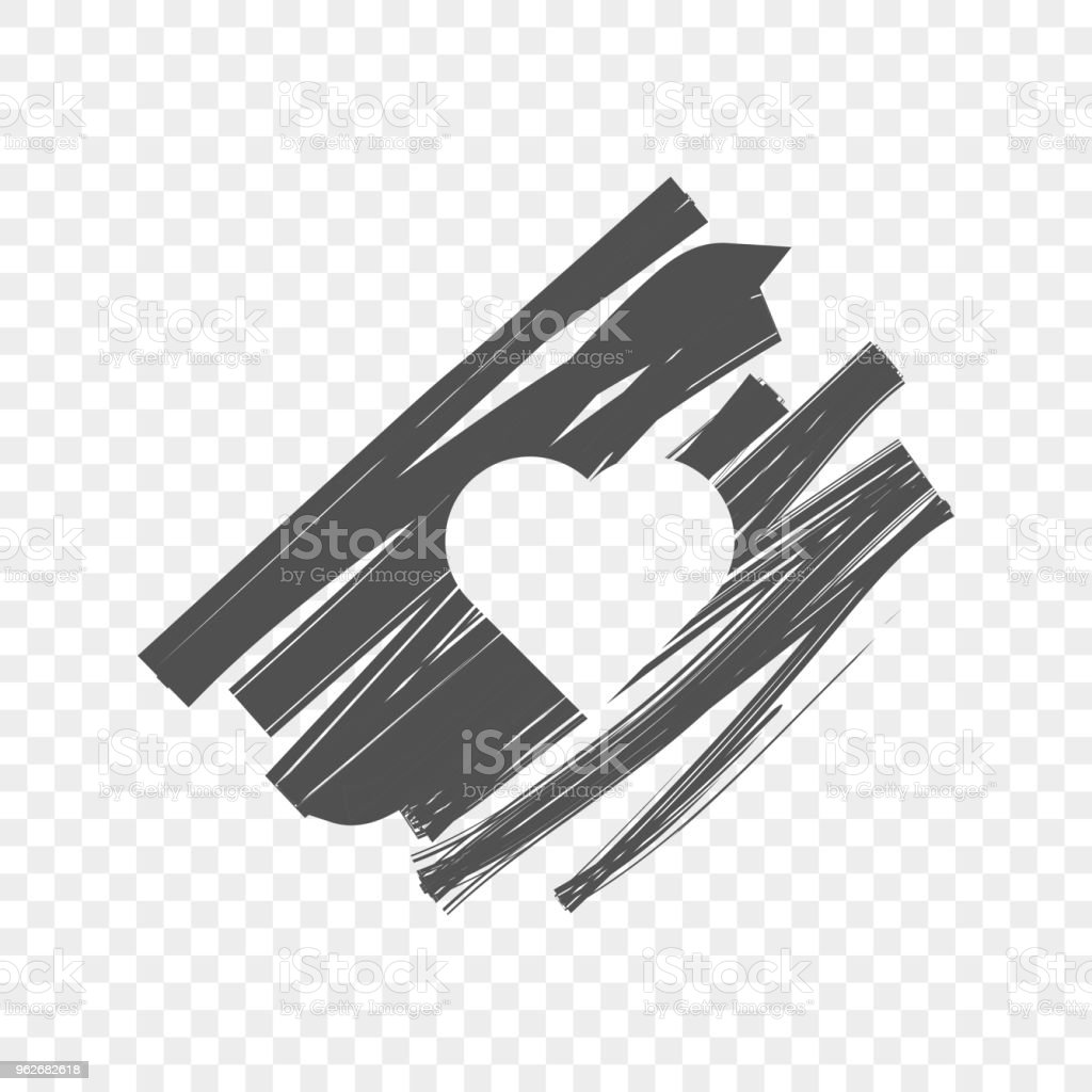 Abstract Image Of A Shaded Background With A Heart In The Middle