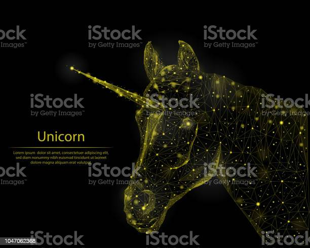 Abstract image of a unicorn consisting of golden lines and points in vector id1047062368?b=1&k=6&m=1047062368&s=612x612&h=fcucpb73duj7yt92ycvht blmmlbmmzrqynwj5dnyiu=
