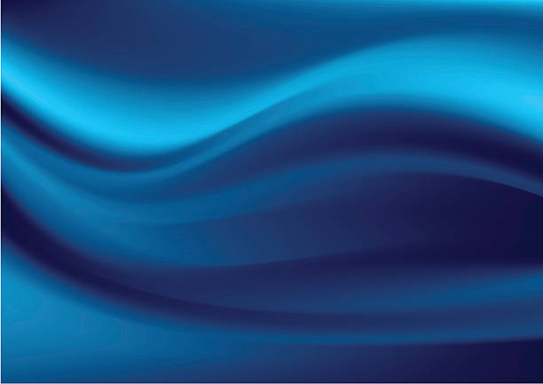 abstract image of blue and black wavy lines - silk backgrounds stock illustrations, clip art, cartoons, & icons