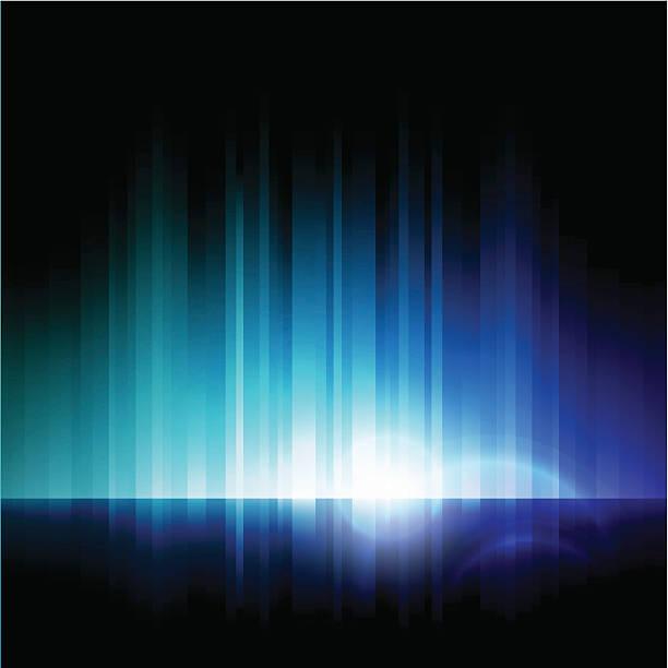 illustrazioni stock, clip art, cartoni animati e icone di tendenza di astratto luci - aurora polare