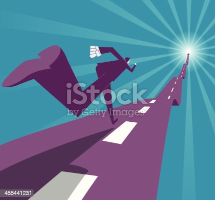 Vector illustration - Run to success