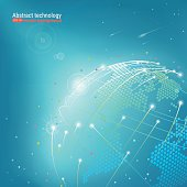 Technological development and communication. Vector illustration.