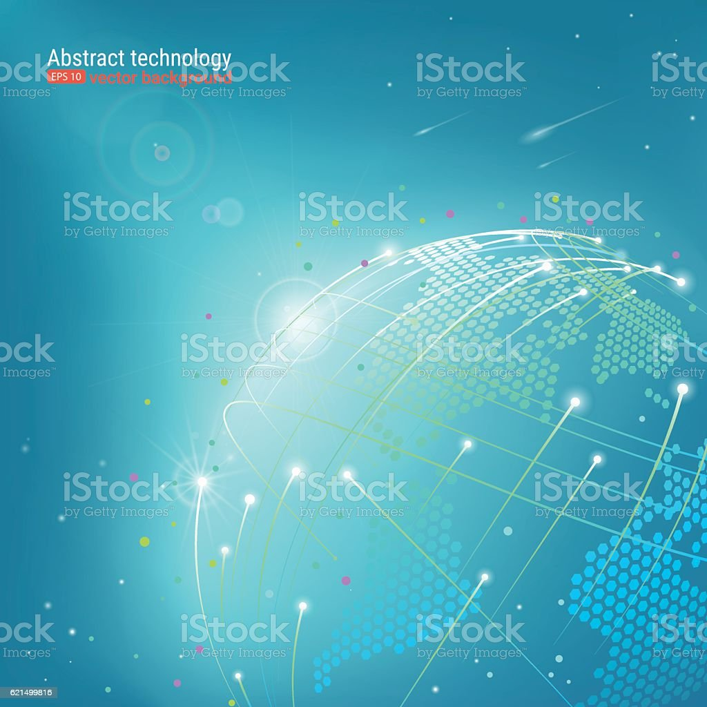 Abstract image of the globe. vector art illustration
