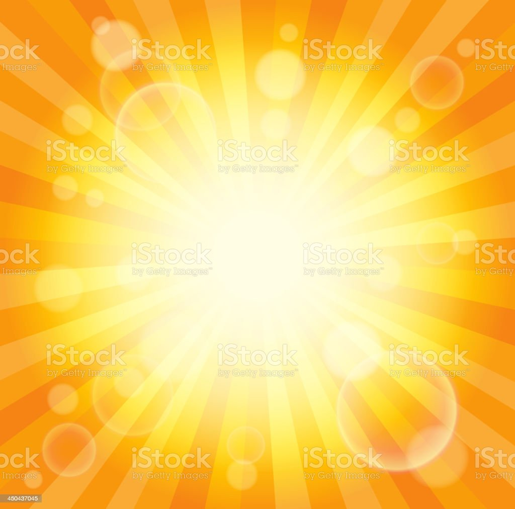 Abstract image with sunlight rays 6 royalty-free stock vector art