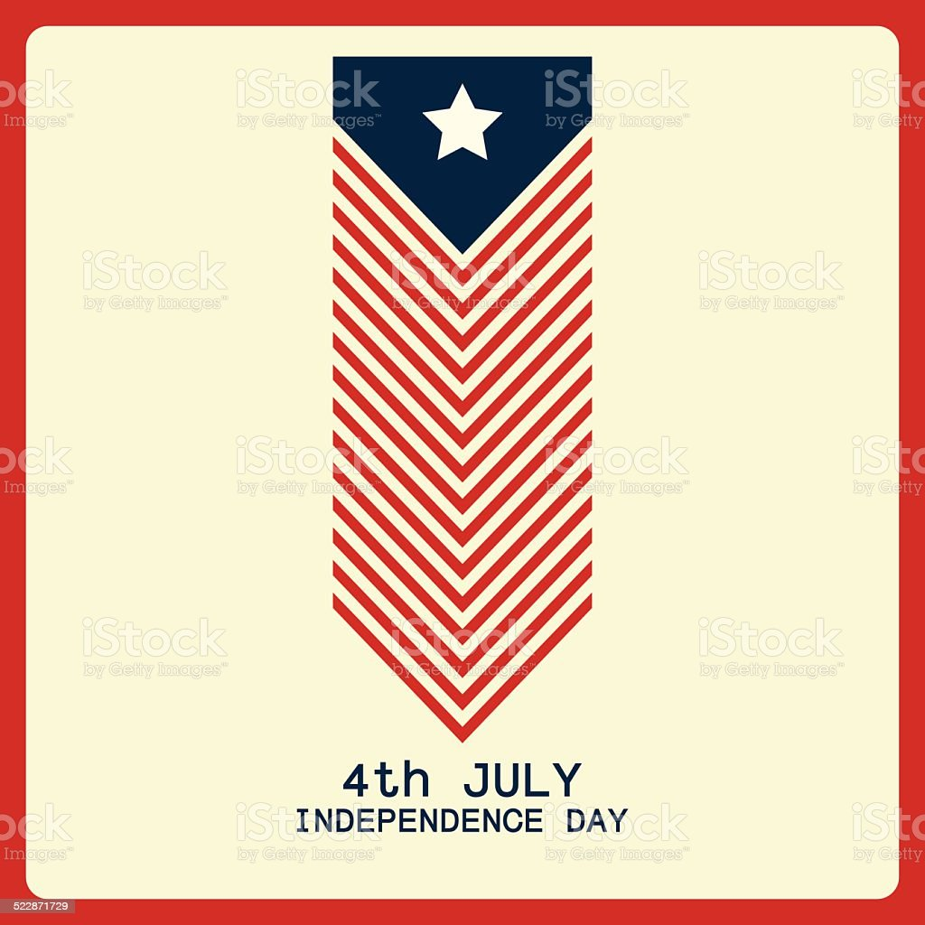 abstract independence day background with special objects vector art illustration
