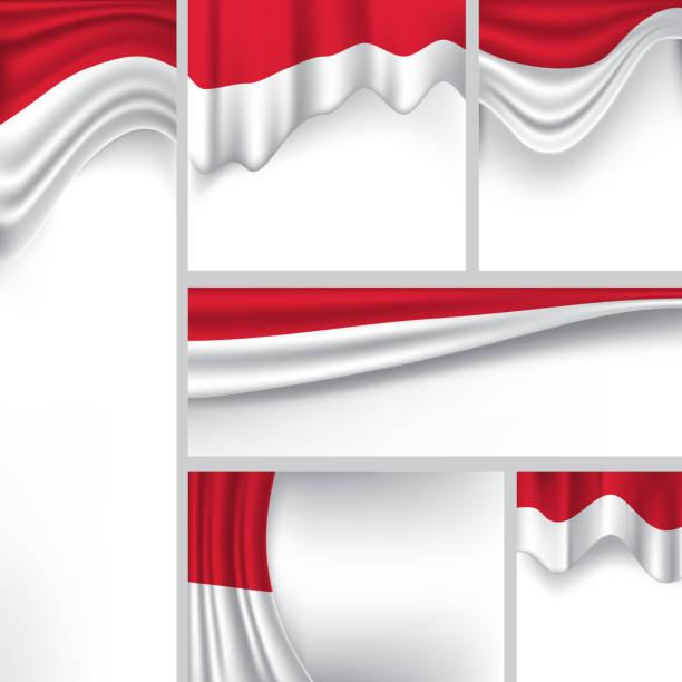 stockillustraties, clipart, cartoons en iconen met abstract indonesia flag, indonesian colors (vector art) - indonesische vlag