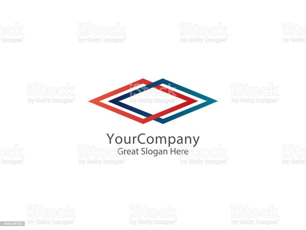 Abstrakte Unendlichkeit Quadrat Business Design Konzept Symbol ...