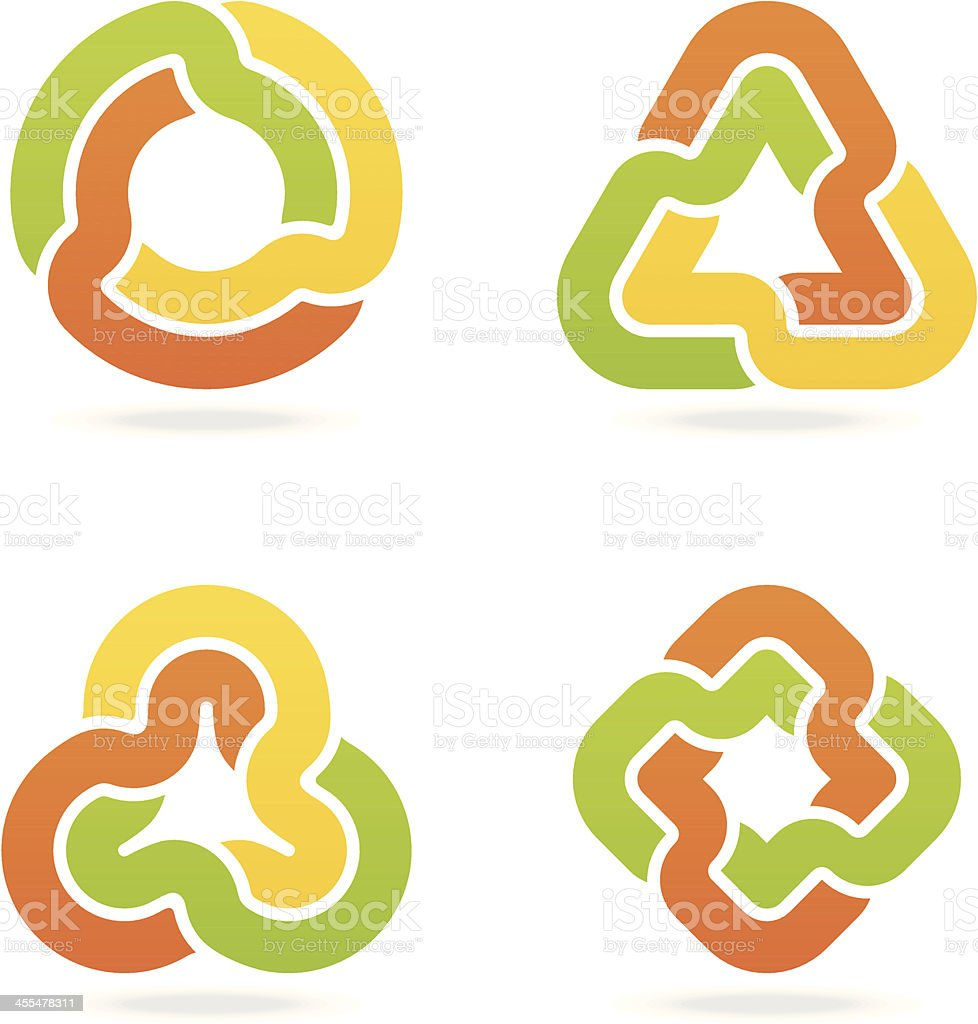 abstract infinity symbols vector art illustration