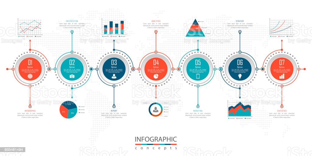 abstract infographic business template for chart diagram web design