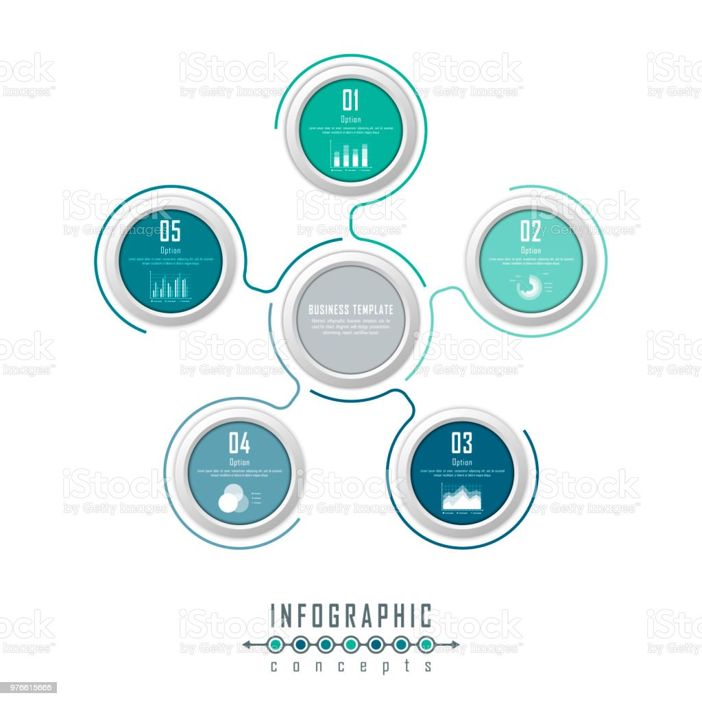Abstract Infographic Business Template For Chart Diagram Web Design ...