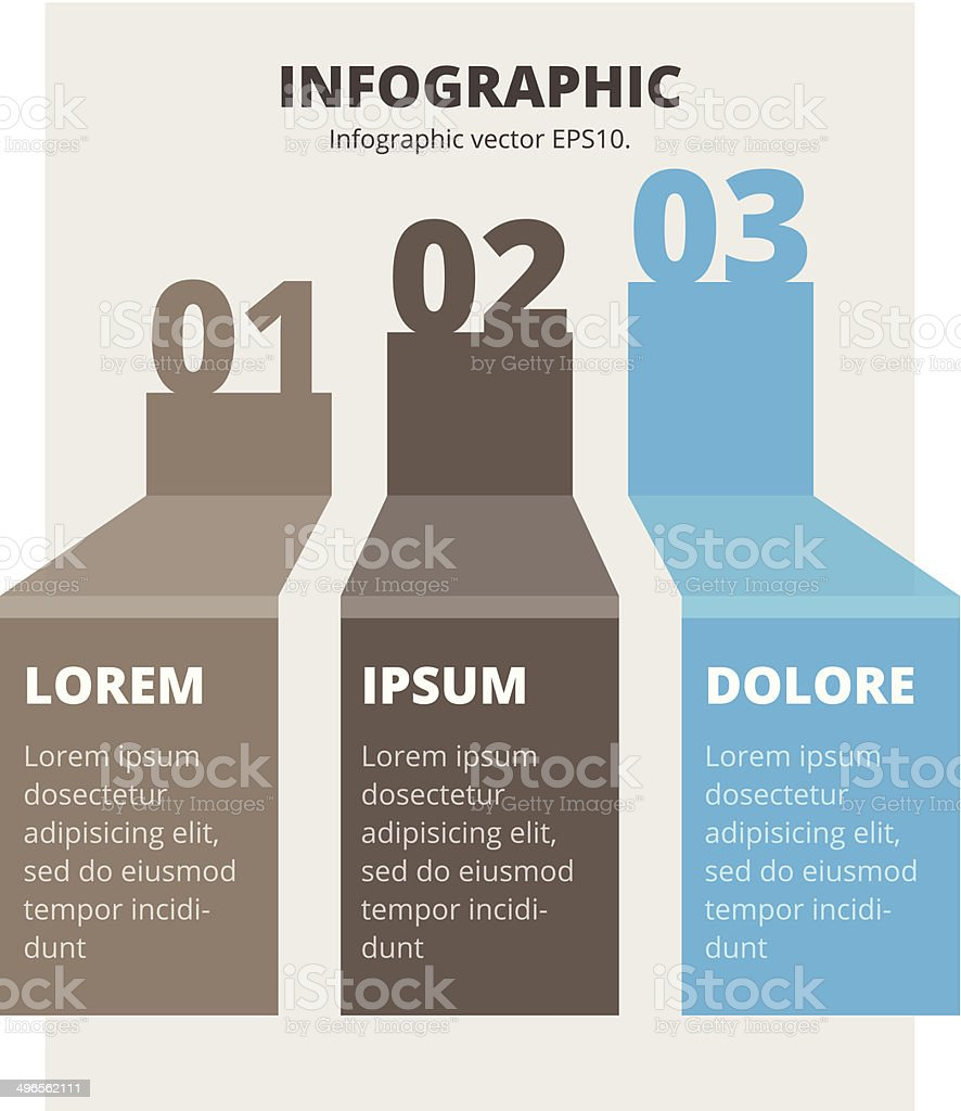 Abstract infographic chart vector art illustration