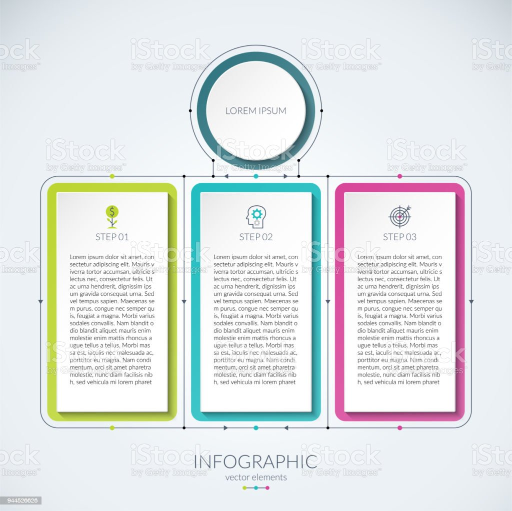 Abstract infographic chart with 3 tabs can be used as a diagram abstract infographic chart with 3 tabs can be used as a diagram graph ccuart Image collections