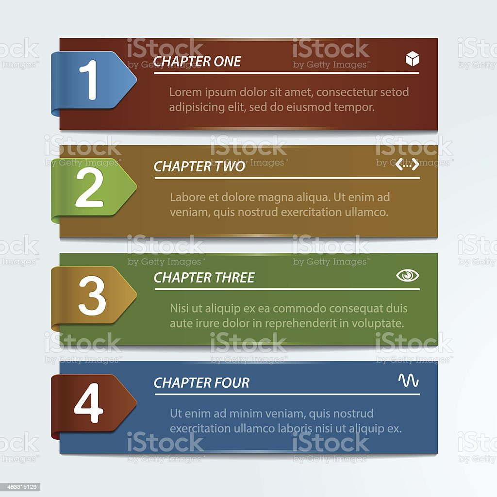 Abstract Infographic Design vector art illustration