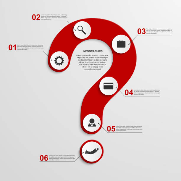 Abstract infographic in the form of question mark. Design elements. vector art illustration