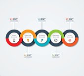 Abstract infographic template. Business concept with 5 options, steps, circles