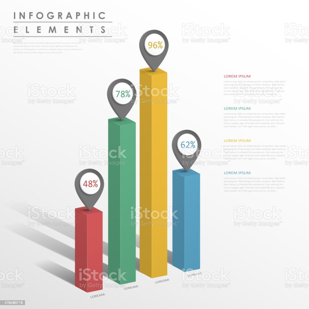 abstract infographic template design vector art illustration