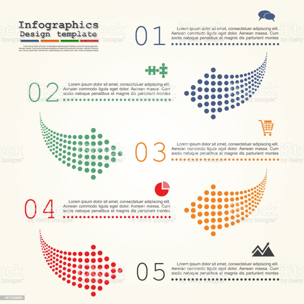 Abstract infographic with dots arrows. Vector illustration vector art illustration