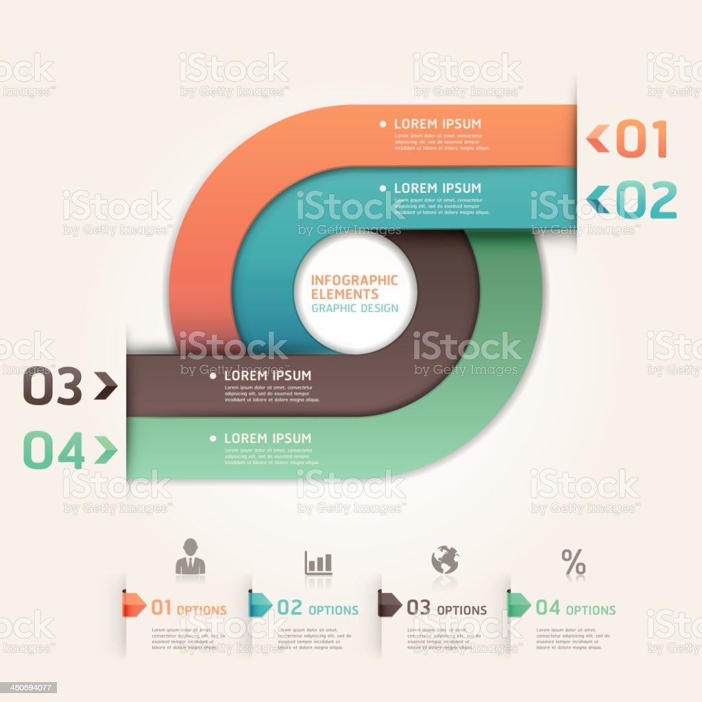 Abstract Infographics banner. royalty-free stock vector art