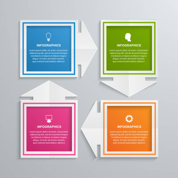 Abstract infographics design template. vector art illustration