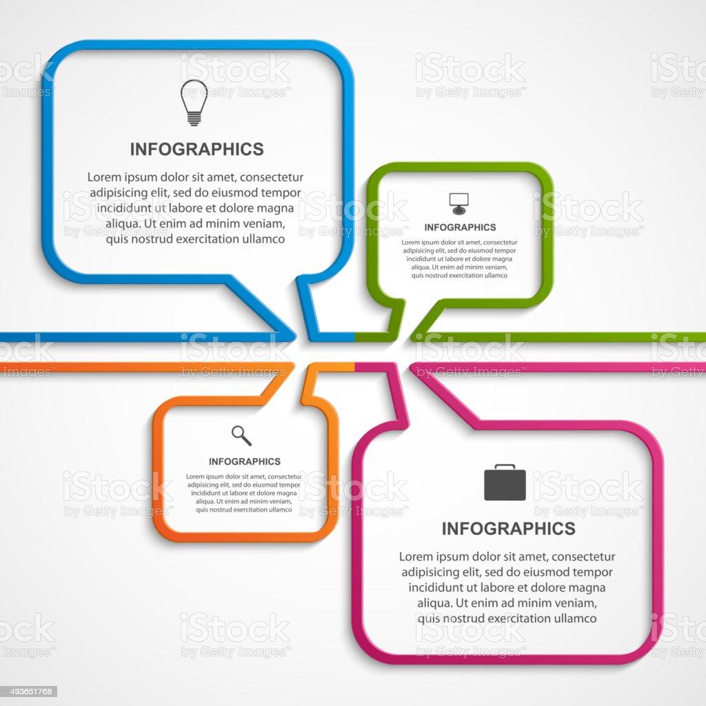 Abstract infographics design template. Vector illustration. vector art illustration