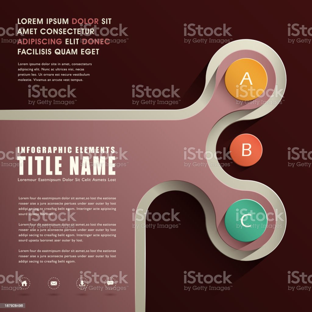 abstract infographics design royalty-free stock vector art