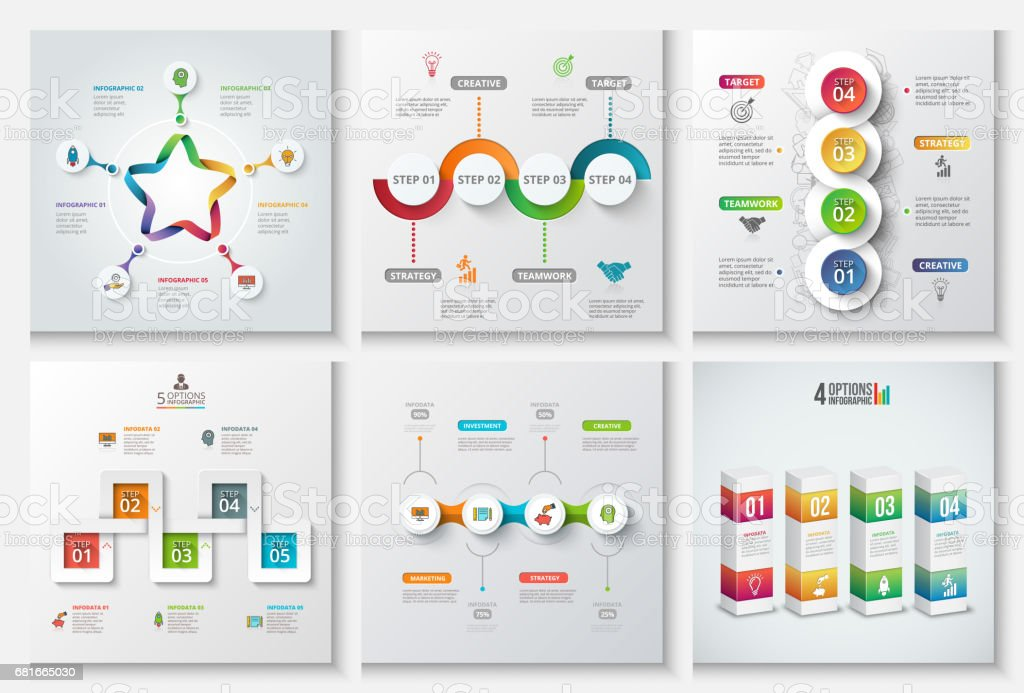 Abstract infographics number options template. - illustrazione arte vettoriale