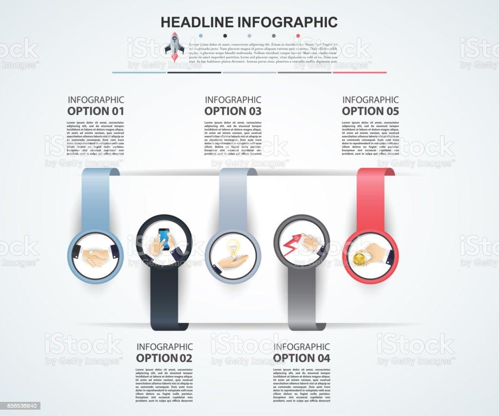 Abstrakte Infografiken Nummer Optionen Vorlage Vektorillustration ...