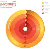 Abstract infographics template design with paper elements.