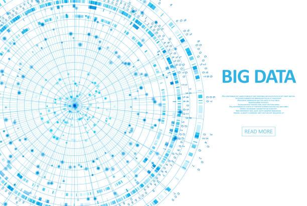 Abstract infographics visualization vector art illustration
