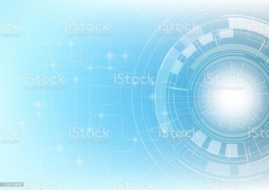 Abstrakte Innovationstechnologie Und Digitale Hallo Tech