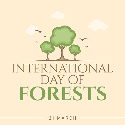 Abstract International Day Of Forests for banner design