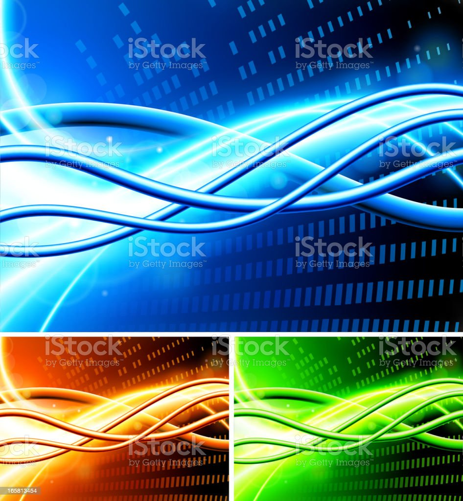 Abstract Internet Wave Background Collection royalty-free stock vector art