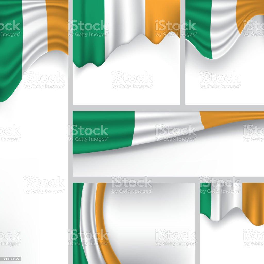 Resumen bandera de Irlanda, Irlanda Vector de bandera (arte vectorial) - ilustración de arte vectorial