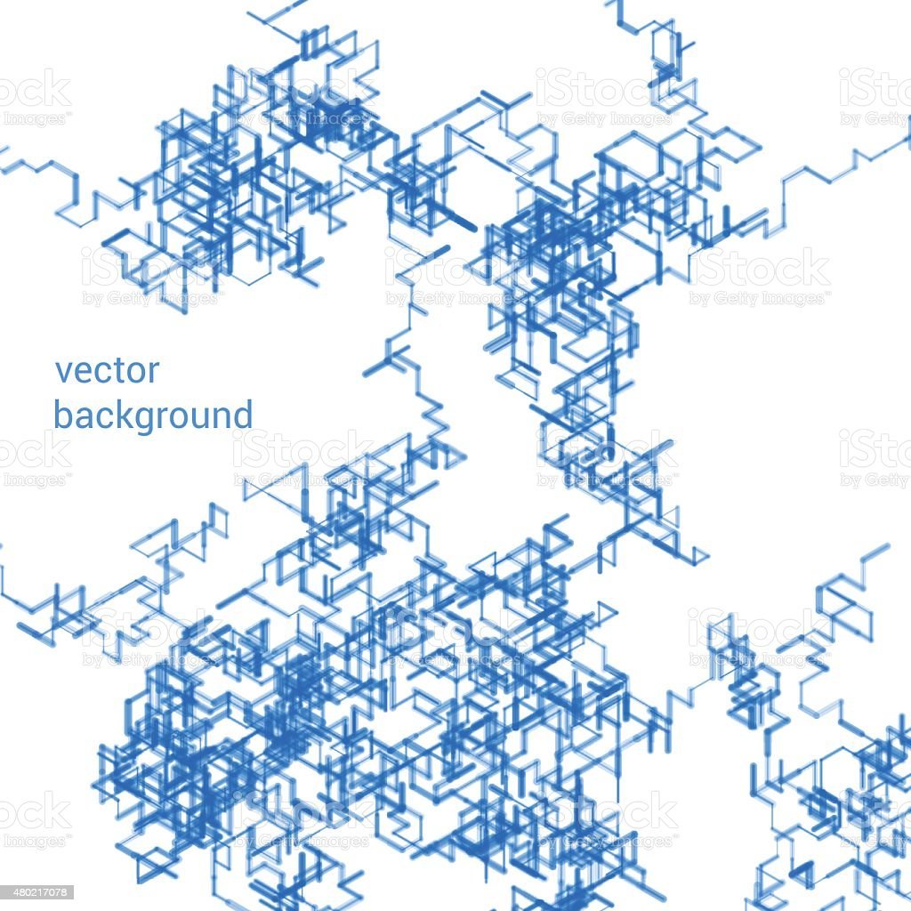 Abstract isometric computer generated 3d blueprint visualization abstract isometric computer generated 3d blueprint visualization lines background vector royalty free abstract isometric malvernweather Choice Image