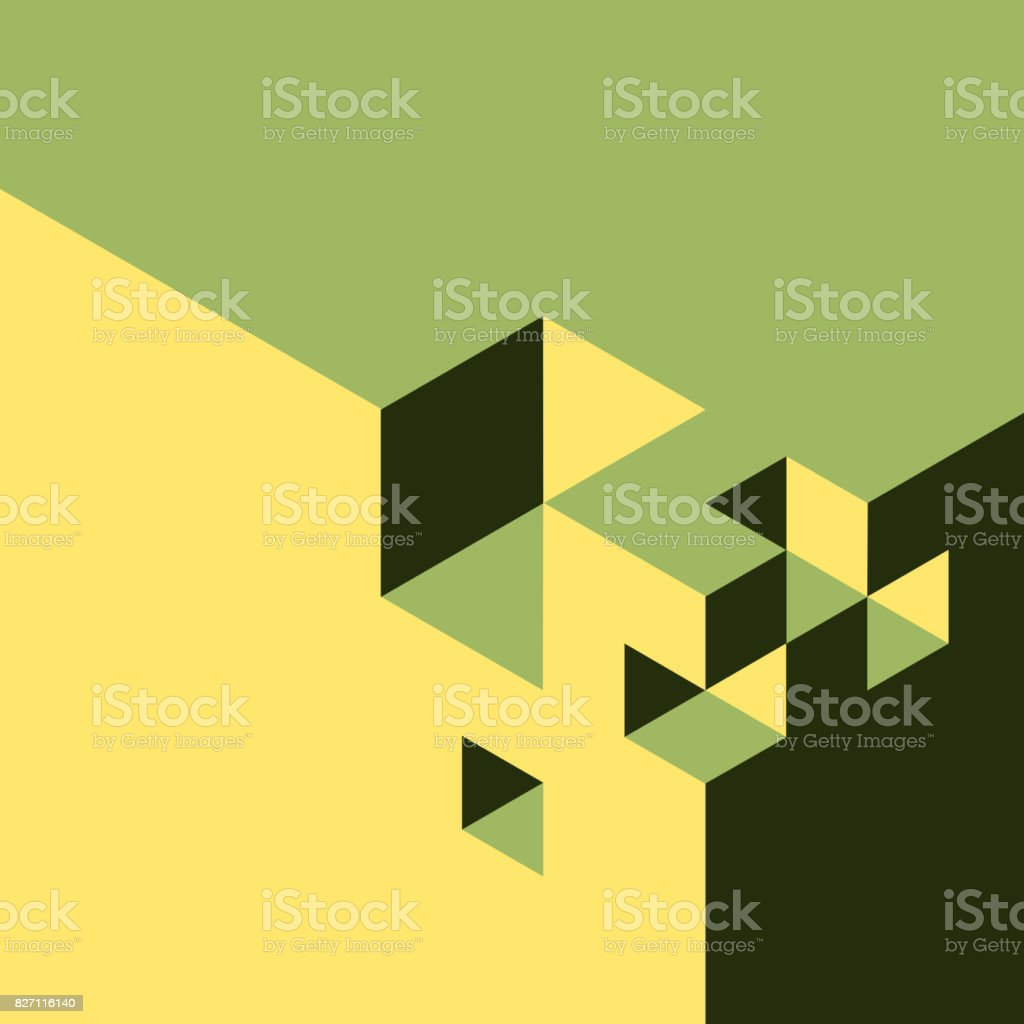 Abstract isometry background vector art illustration